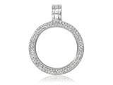 Nikki Lissoni Silver-plated Small Swarovski® Elements Coin Holder Pendant - Chain Included style: PSW01SS
