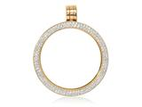 Nikki Lissoni Gold-tone Medium Swarovski® Elements Coin Holder Pendant style: PSW02GM