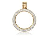 Nikki Lissoni Gold-tone Small Swarovski® Elements Coin Holder Pendant style: PSW02GS