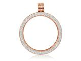 Nikki Lissoni Rose-tone Medium Swarovski® Elements Coin Holder Pendant style: PSW03RGM