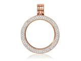 Nikki Lissoni Rose-tone Small Swarovski® Elements Coin Holder Pendant style: PSW03RGS
