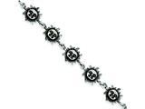 Sterling Silver Suns Bracelet style: QA44