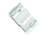 Sterling Silver 30mm Fancy Cuff Bangle Bracelet style: QB102