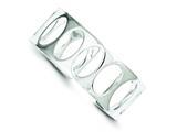 Sterling Silver 22.25mm Fancy Cuff Bangle Bracelet style: QB107