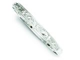 Sterling Silver 7mm Fancy Diamond-cut Slip-on Bangle Bracelet style: QB208