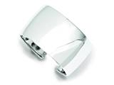 Sterling Silver 40mm Cuff Bangle Bracelet style: QB340