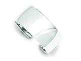 Sterling Silver 30mm Cuff Bangle Bracelet style: QB341