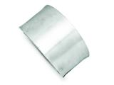 Sterling Silver Brushed Cuff Bangle style: QB487