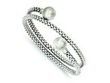 Sterling Silver Textured Wrap Bangle style: QB725
