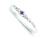 Sterling Silver Amethyst Bangle style: QB747