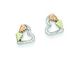 Sterling Silver Small Heart Post Earrings style: QBH131