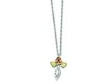 Sterling Silver Rose Cross Necklace style: QBH140