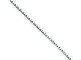 10 Inch Sterling Silver 1.10mm Box Chain style: QBX022