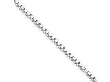Sterling Silver 1.4mm Box Chain style: QBX026