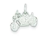 Sterling Silver Motorcycle Charm style: QC1033