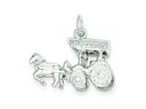 Sterling Silver Horse and Carriage Charm style: QC1034