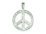 Sterling Silver Peace Pendant - Chain Included style: QC1069