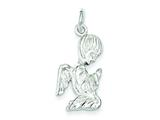 Sterling Silver Praying Angel Charm style: QC1097