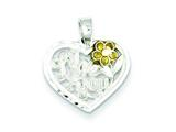 Sterling Silver I Love You Heart Charm style: QC1198