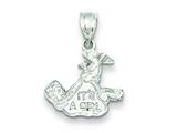 Sterling Silver It`s A Girl Charm style: QC1299