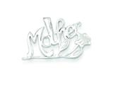 Sterling Silver Mother Charm style: QC1577