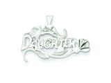Sterling Silver Daughter Charm style: QC1587