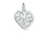 Sterling Silver 16 Heart Charm style: QC1593