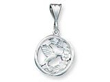 Sterling Silver Hummingbird W/flowers Charm style: QC1711