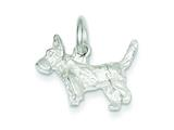 Sterling Silver Scottish Terrier Charm style: QC1784