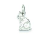 Sterling Silver Cat Charm style: QC1788