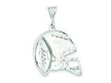 Sterling Silver Helmet and Football Charm style: QC1798