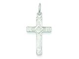 Sterling Silver Cross Charm style: QC1857