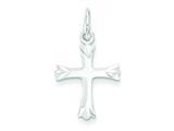 Sterling Silver Fleur De Lis Cross Charm style: QC1888