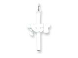Sterling Silver Draped Cross Charm style: QC1905