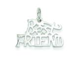 Sterling Silver Best Friend Charm style: QC2017