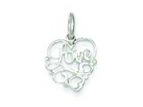 Sterling Silver Love Charm style: QC2018