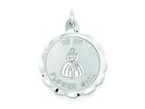 Sterling Silver To My Flower Girl Disc Charm style: QC2117