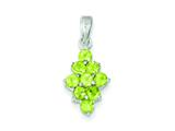 Sterling Silver Peridot Pendant - Chain Included style: QC2209