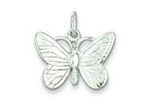 Sterling Silver Butterfly Charm style: QC2565