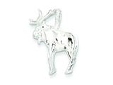 Sterling Silver Moose Charm style: QC2581