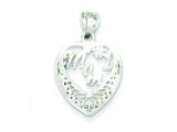 Sterling Silver #1 Mom Charm style: QC2634