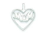 Sterling Silver Mom Heart Charm style: QC2635