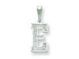 Sterling Silver Initial E Charm style: QC2762E