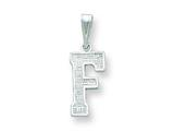 Sterling Silver Initial F Charm style: QC2762F