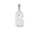 Sterling Silver Initial G Charm style: QC2762G