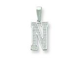 Sterling Silver Initial N Charm style: QC2762N