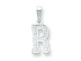 Sterling Silver Initial R Charm style: QC2762R