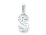 Sterling Silver Initial S Charm style: QC2762S