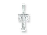 Sterling Silver Initial T Charm style: QC2762T