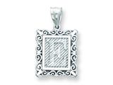 Sterling Silver Initial E Charm style: QC2770E